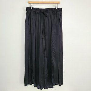 Elevenses Anthropologie Black Wide Leg Flowy Pants